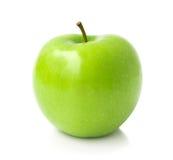 Zielony jabłko na białym tle, owocowy zdrowy pojęcie zdjęcia stock