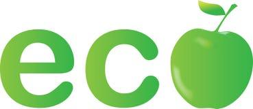 Zielony jabłko, ekologia Fotografia Stock