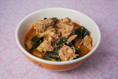 Zielony Jackfruit curry, Kaeng Khanun Zdjęcie Stock
