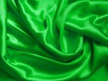 Zielony jedwab Zdjęcia Royalty Free