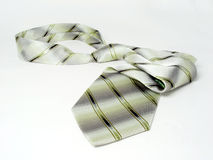 zielony jedwab odosobnione krawat Zdjęcia Stock