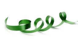 Zielony jedwabniczy faborek Zdjęcia Royalty Free