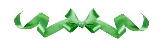Zielony jedwabniczy tasiemkowy dekoracyjny łęk Obraz Royalty Free