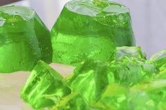 Zielony jello dwa formy Fotografia Stock