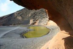 zielony jeziorny Lanzarote Fotografia Stock