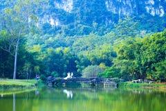 zielony jezioro Obrazy Royalty Free