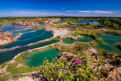 Zielony jezioro Zdjęcia Royalty Free