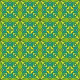 Zielony Jugendstil wzór royalty ilustracja