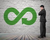 Zielony kółkowy gospodarki pojęcie obrazy stock