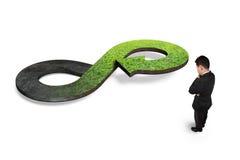 Zielony kółkowy gospodarki pojęcie Zdjęcia Stock
