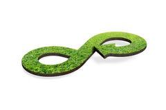 Zielony kółkowy gospodarki pojęcie, 3D rendering Fotografia Stock