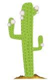 Zielony kaktus royalty ilustracja