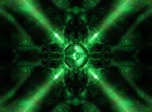 Zielony kalejdoskop muzyki mówca Obraz Royalty Free