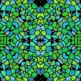 Zielony kalejdoskopowy multicolor abstrakta wzór ilustracja wektor