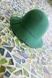 zielony kapelusz Zdjęcie Royalty Free