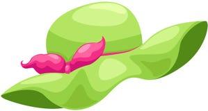 Zielony kapelusz ilustracji