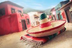 zielony kapelusz pojedynczy meksykański sombrero obraz stock