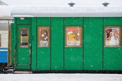 Zielony kolejowy fracht Obrazy Royalty Free