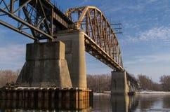 Zielony kolejowy most Zdjęcie Stock
