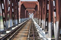 Zielony kolejowy most Fotografia Royalty Free