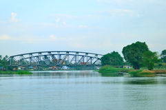Zielony kolejowy most Obraz Royalty Free