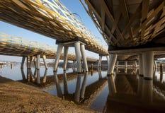 Zielony kolejowy most Zdjęcia Stock