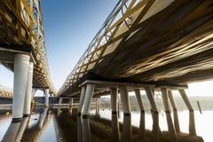 Zielony kolejowy most Zdjęcia Royalty Free