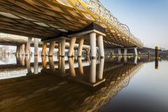 Zielony kolejowy most Zdjęcie Royalty Free