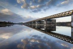 Zielony kolejowy most Obraz Stock