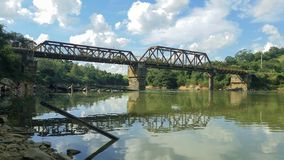 Zielony kolejowy most Fotografia Stock