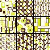 zielony kolekci mod deseniuje bezszwowego Obrazy Stock
