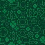Zielony koniczynowy bezszwowy wzór Zdjęcie Stock
