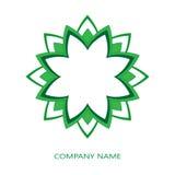 Zielony korporacyjny logo Obrazy Stock