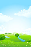 zielony krajobraz Obraz Royalty Free