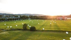 Zielony krajobraz w Norwegia obrazy stock