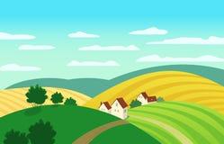 Zielony krajobrazowy pojęcie royalty ilustracja