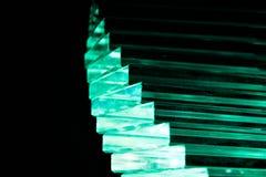 Zielony Krystaliczny schody Zdjęcie Royalty Free