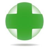 Zielony krzyż Obrazy Stock