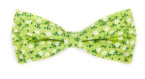 Zielony łęku krawat z wzorem z latem kwitnie Zdjęcia Royalty Free