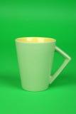 zielony kubek Zdjęcie Stock