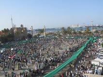 Zielony kwadrat - (Tripoli, Libia,) Fotografia Stock