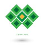 Zielony kwadratowy logo Zdjęcie Royalty Free
