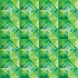 Zielony kwadratowy tło wzór Zdjęcia Royalty Free