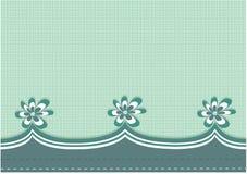 Zielony kwiat graniczący tło Fotografia Stock