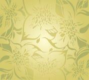 Zielony kwiecisty dekoracyjny wakacyjny tło Zdjęcie Stock