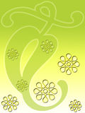 zielony kwiecisty liścia Zdjęcie Royalty Free