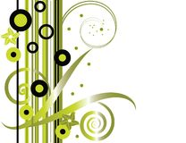 zielony kwiecisty modna ilustracja wektor