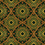 zielony kwiecisty ornament ilustracja wektor