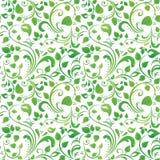 Zielony kwiecisty wzór Fotografia Stock