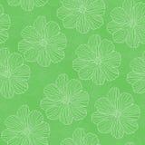 Zielony kwiecisty wzór Fotografia Royalty Free